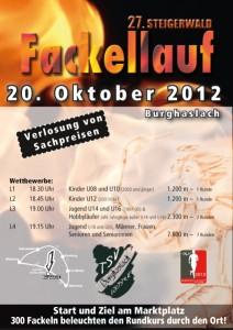 Fackellauf TSV Burghaslach 2012 Werbeflyer