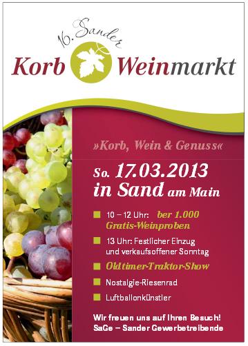 Sand Korb Weinmarkt 2013 Sand am Main Weinprobe