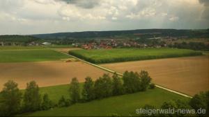 Geiselwind Autobahn A3 Luftaufnahme Drohne