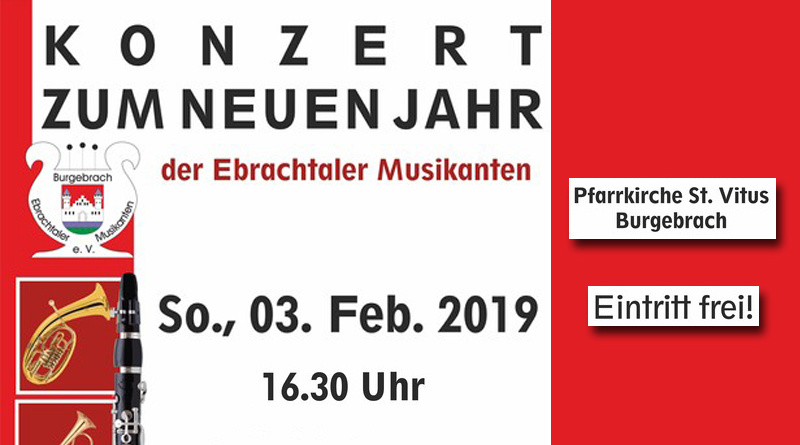 Konzert zum neuen Jahr Ebrachtaler Musikanten Burgebrach