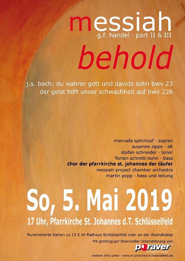 Konzert Schlüsselfeld Poraver Dennert Chor Pfarrkirche St Johannes der Täufer