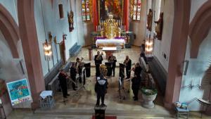 very british Ensemble Trumpet Voluntary Pfarrkirche Schlüsselfeld