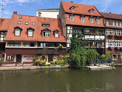 Klein Venedig Bamberg Regnitz Fluss durch Bamberg